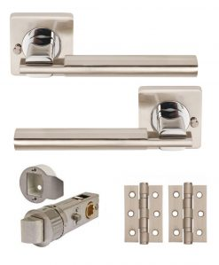 ARC Levier Sur Rose Satin Nickel//Chrome Poli
